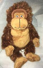 "16"" First & Main SILLI GORILLI Soft Brown & Tan Plush Gorilla Stuffed Animal"