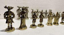 Schachfiguren Zinn Gewicht ca 4.5 kg Set Spiel Sammler Schach Gold Silber