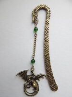 Game of Thrones Inspired Antique Bronze Dragon Bookmark .