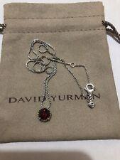 David Yurman Chatelaine Pendant Necklace with Garnet