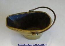 Vintage Brass Ash Coal Decorative Bucket Scuttle Handle Carrier