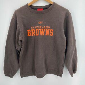 Reebok Crew Neck Sweatshirt Youth L Brown Cleveland Browns NFL Football Retro