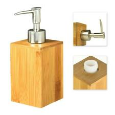 Soap Dispenser Liquid Hand Wash Toilet Loo Bathroom Shower Gel Pump Bamboo