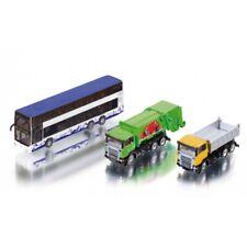 RARE Siku 1813 City Set 1:87 scale toys Refuse truck bin wagon Doubledecker bus
