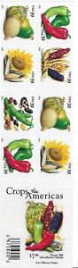 US Stamps. Crops Of America Stamp Booklet of 20. Scott#4012B.