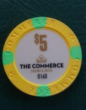 Authentic Collectable Casino Poker Chip / Limited edition 35th Commerce Casino