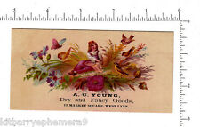 4433 A. C. Young dry good store c. 1890 advertising trade card, West Lynn, MA