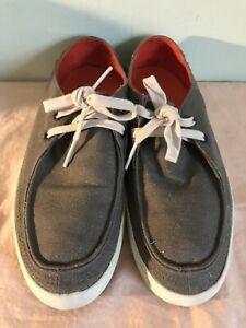 Vans Rata Vulc Rasta Mens Shoes Skate Size 8.5- Hemp -Charcoal/ Spicy Orange