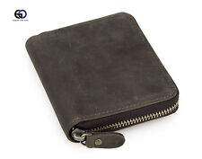 Leather wallet.Card Wallet.Card Holder.Leather Purse.zip Round Wallet.Unisex.
