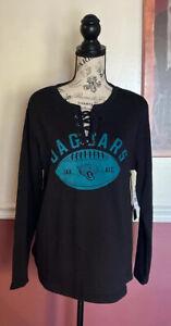 NFL Team Apparel Jacksonville Jaguars Lace Sweatshirt Women's Size XL MSRP $65