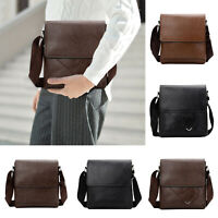 Men's Leather Messenger Bags Shoulder Bag Crossbody Handbag Briefcase Bag