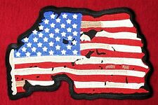 XXL Aufnäher Patch Aufbügler USA Stars Stripes Fahne Country Biker Rider Jacke