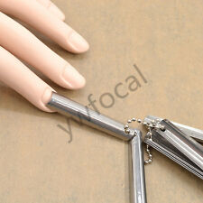Hot Fashion Women Easy French Smile Nail Metal Cutter Template Edge 9 Size New