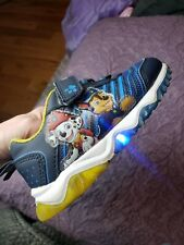 Paw Patrol Light Up Sneakers Nickelodeon Marshall Blue Yellow Strap Toddler Sz 9