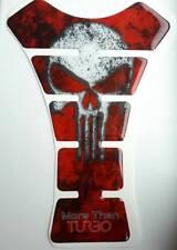 Motorbike Bike Tankpad Red Skull Suzuki Ducati Honda Protector Decal Sticker ZR