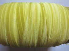 2 YARD OF YELLOW FOLDOVER ELASTIC SIZE 5/8 PERFECT FOR HEADBANDS FOE
