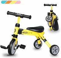 Baby Kids Tricycle Bike Trike Play Sports Activity Ride On Steel Frame Yellow