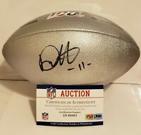 Deonte Harris Signed New Orleans Saints Silver NFL 100 Football NFL PSA/DNA COA