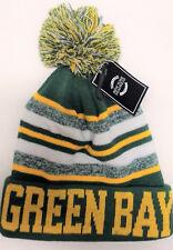 Green Bay Packers  Team Color Sideline Replica Tri-Color Pom Pom Knit Beanie Hat