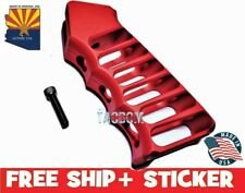 Guntec USA Red Ultralight Skeletonized Aluminum Anodized Grip w New screw washr