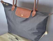 Nouveau Longchamp Le Pliage Sac Fourre-tout Nylon Grand sac à main Graphite L