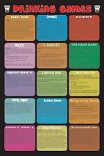 2005 ALCOHOL BEER LIQUOR DRINKING GAMES POSTER 24X36 FREE SHIPPING