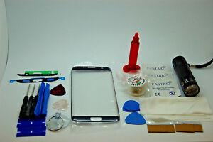 Front Glass Screen Repair Kit Loca Glue UvTorch for Samsung Galaxy S7 Edge Black