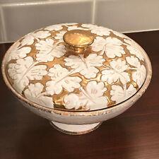 Italian Mid Century Hand Painted Ceramic Covered Dish.....