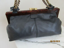 AUTH CHLOE FRAME DARK GREY SOFT LEATHER VINTAGE RET$2898 SOLD OUT WHAT BARGAIN