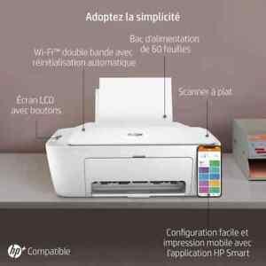 Imprimante tout-en-un Jet d'encre couleur - HP - DeskJet 2710e - Blanc