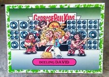 2017 GARBAGE PAIL KIDS BATTLE OF THE BANDS GREEN BORDER STICKER 7A DUELING DAVID