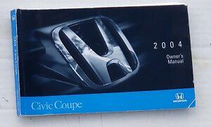 2004 Honda Civic Coupe Owner's Manual