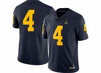 $135 Jordan Men's Michigan Wolverines #4 Dri-FIT Football Jersey AQ0003-419 Sz L