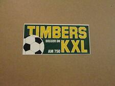 NASLTimbers Soccer on KXL AM 750 Vintage Bumper Sticker