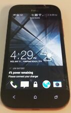 HTC One SV 8GB Boost Mobile Black & Red Cracked Glass Broken Navigation Buttons