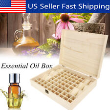 68 Bottle Essential Oil Wooden Storage Box Case Container Aromatherapy Organizer