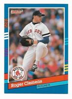 ROGER CLEMENS ~ 1991 Donruss Baseball 2 Card Lot ~ #81 & Diamond Kings #9
