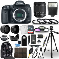 Canon EOS 7D Mark II SLR Camera + 18-55mm STM Lens + 30 Piece Accessory Bundle