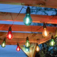 Battery Power LED Filament Festoon Fairy Lights   Timer Garden Outdoor Globe