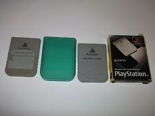 2 x Genuine Official Sony Playstation P1 Memory Card PS1 Boxed