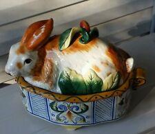 Fitz & Floyd Classics ~ Ceramic ~ Rabbit Ricamo Pattern ~ Soup Tureen/No Ladle