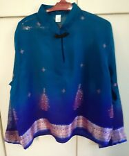 One Time Thai Silk Long Sleeve Top Made In Thailand