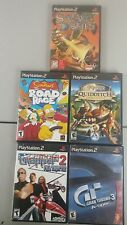 Ps2 5 pack gran turismo 3, savage skies, simpsons road rage, quiddich, am chop 2