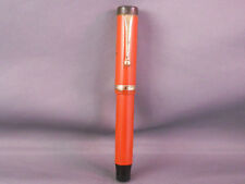 Parker Duofold Junior  Fountain Pen--Orange -fine point