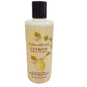 Crabtree & Evelyn NOS Citron Honey & Coriander Bath & Shower Gel 8.5 oz