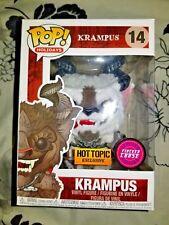 Exclusive Flocked Krampus CHASE FUNKO Pop Vinyl New in Mint Box + HT Sticker