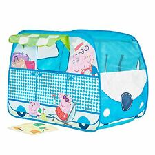 PEPPA PIG BLUE CAMPERVAN POP UP ROLE PLAY TENT KIDS NEW OFFICIAL