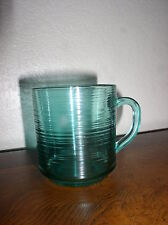Mug in Jardiniere (Turquoise) by Arcoroc - France