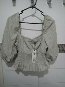 MINKPINK SAGE GREEN TOP SIZE LARGE NEW WITH TAGS NEVER WORN