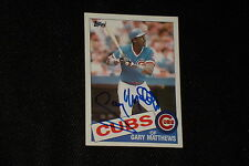 GARY MATTHEWS SR. 1985 TOPPS SIGNED AUTOGRAPHED CARD #210 CHICAGO CUBS